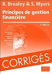 Corrigés de Principes de gestion financière
