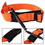 Kasit Outdoor Portable First Aid Quick Slow Release Buckle Medical Military Tactical Emergency Tourniquet Strap One Hand (Orange)