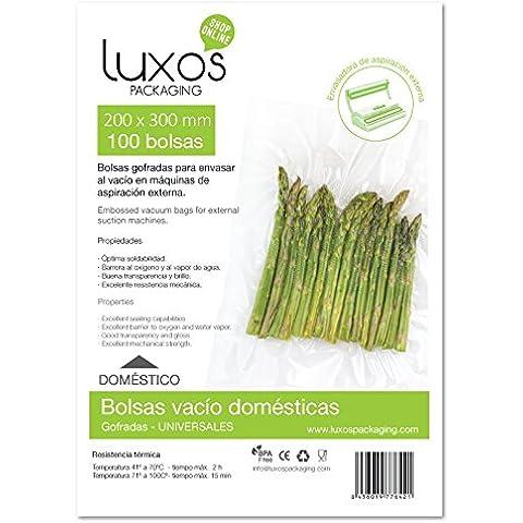 Luxos Packaging 330754 00 - Bolsa de vacío gofrada, 20 x 30 cm, 100 unidades