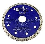 PRODIAMANT Diamant-Trennscheibe Turbo Fliese PTEC Ø 115 mm Bohrung 22,22 mm extradünn Keramik, Naturstein, Steinzeug, Feinsteinzeug, Klinker