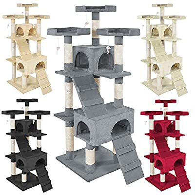 TecTake Cat tree Activity Center Barney - different colours -