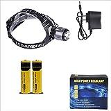 MUTANG Outdoor-LED-Scheinwerfer Wiederaufladbare Lithium-Batterie mit großer Kapazität Kopf-Taschenlampe Nacht Angeln Long-Range-Scheinwerfer (Farbe : A)