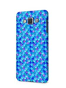 Cover Affair Fish Scales Printed Designer Slim Light Weight Back Cover Case for Samsung Galaxy E5