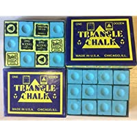 24 pcs world famous Triangle Green Snooker Pool chalk in 2 genuine Triangle boxes, not sold loose