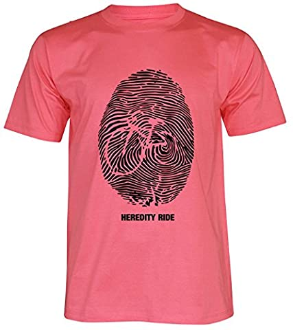 PALLAS Unisex's Bicycle Cycling Heridity Ride T-Shirt -PA331 (Pink , L)
