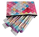 Cooljun MAANGE Multicolor Lattice Cosmétique Maquillage Brosse Sac Cosmétique Portable Zipper Holder Bag Sac De Beauté