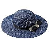 YWLINK Mujer Sombrero Grande del Sol del Sombrero De Paja De La Playa Al Aire Libre del Visera Plegable De La Playa del Verano De Las SeñOras Sombrero Negro, Azul Marino, Beige, Blanco, Caqui