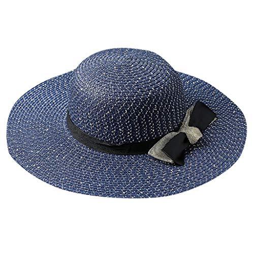 Dasongff Strohhut Damen Faltbarer Strohhut Sommerhut Sonnenhut Breite Krempe mit Kinnriemen UV Schutz Safari Hut Gartenhut