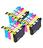 King of Flash Brand New 3 Full Sets Compatible Printer Ink Cartridges For Epson T1295 - 3 x Cyan, 3 x Magenta, 3 x Yellow, 3 x Black SX420W, SX425W, SX525WD, SX620FW, Office B42WD, BX305F, BX305FW, BX320, BX320FW, BX525WD, BX535WD