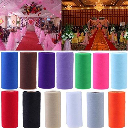 olle Tüll Dekostoff für Hochzeit Party Geschenk Schleife Craft Bankett Dekoration 22*15cm (Gras-Grün) (Hochzeit Tüll Stoff)