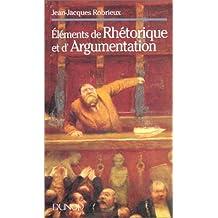 Éléments de rhétorique et d'argumentation