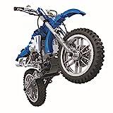 Technik Bausteine Motorrad Motocross Bike Konstruktionsspielzeug mit funktionierendem Getriebe, 474...