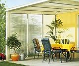 Beckmann Seitenwand links für Terrassen-Überdachung Gr. 1 - 4 Aluminium natur