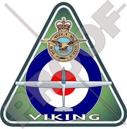 Viking T.1 RAF Grob G103A Doppel II Acro Britische Königliche Luftwaffe VGS Luftkadetten UK 95mm Auto & Motorrad Aufkleber, Vinyl Sticker
