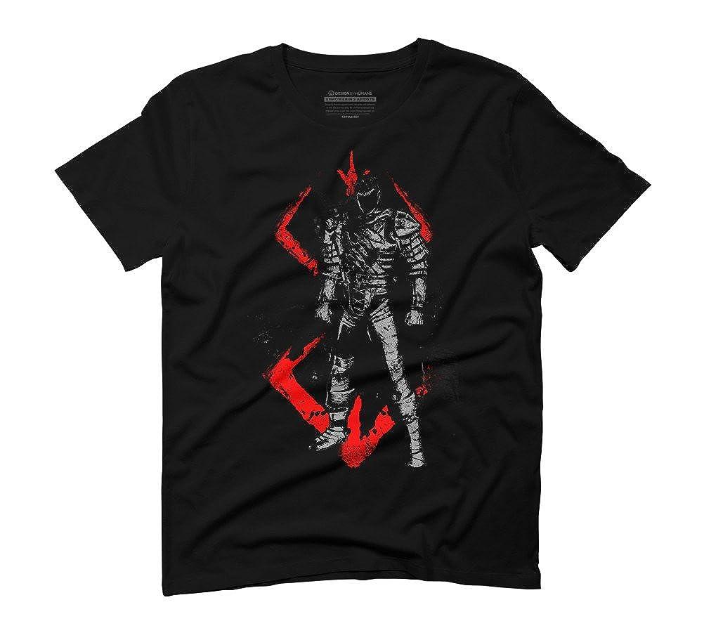 Crimson Guts Men's Graphic T-Shirt - Design By Humans: Amazon.co.uk:  Clothing