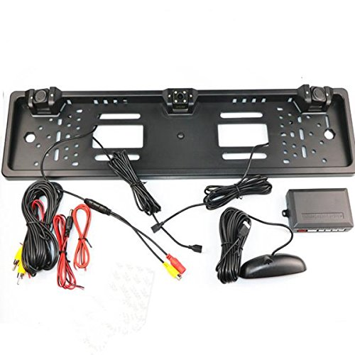 AVANI EXCHANGE European License CCD Car Rear View Camera Plate Frame Front Camera Reversing Radar Parking Sensors