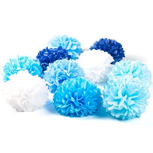 0cm farbige Seidenpapier Blumen Pompoms Ball Party Geburtstag Feier Dekoration ()