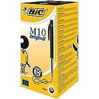 BIC M10 Original Stylos-bille - Noir, Boîte de 50