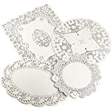 Lakeland Assorted Paper Doilies, 4 Designs - Pack of 80