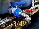 """Tappo per cisterna IBC con rubinetto in ottone, attacco da 3/4"""" (19,05 mm), per tubi da giardino"""