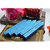 XICHEN® tallada sello de cera de barras de cera de sellado para Retro Vintage Magic flecha patrón tiras de cera, color 5 unidades Azul