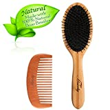 Best Women Hair Brushes - HAIRBY Wood Hair Brush, Natural Bristle Hair Brush Review