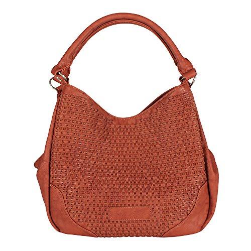 Fritzi aus Preußen Ciara Handtasche Damentasche Schultertasche saddle brandy braun - 34x25-43x15cm (B x H x T) - Brandy Handtaschen Aus Leder