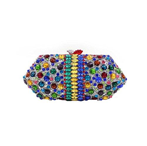 Pacchetto Banchetto Del Sacchetto Di Sera Di Diamante Di Cristallo Di Lusso Delle Donne OneColor