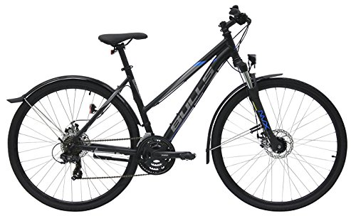 Damen Fahrrad 28 Zoll schwarz - Bulls Wildcross Street Trekking Bike - Shimano Schaltung 21 Gänge, Licht