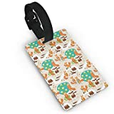 Cute Little Foxes Playing Next to Ponds Forest Tree Trunks Catching Fish Having Fun Luggage Tags