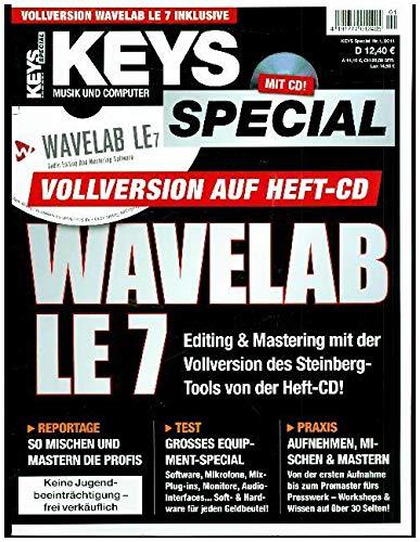 Keys Sonderheft mit Wavelab LE 7 Vollversion auf Heft CD im Keys Special