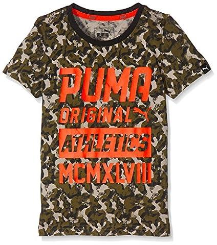 Puma T-shirt pour enfants style Graphic Thé (AOP) 13-14 ans olive night- aop