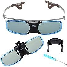 Boblov 144Hz 3D DLP-Link activos del obturador Gafas recargable para BenQ Optoma Acer (1 pieza)