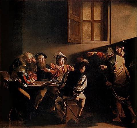 The Calling Of Saint Matthew - 1599-1600 (hi Res) By Michelangelo Merisi Da Caravaggio Digital Print Poster