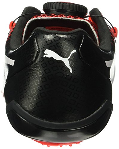 Puma Evospeed Disc Tricks, Chaussures de Running Compétition Mixte Adulte Noir - Schwarz (puma Black-Red blast 01)