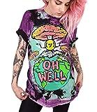 Ocean Plus Unisex 3D Druck Graffiti Alien T-Shirt Loose Fit Wild Verrückt Wahnsinn Tee Shirt Tops