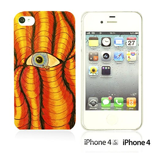 OBiDi - Funny Pattern Hardback Case / Housse pour Apple iPhone 4S / Apple iPhone 4 - A TO Z Funny Eye