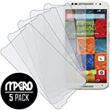 Motorola Moto X (2nd Gen) Screen Protector Cover, MPERO Collection 5-Pack of Matte Anti-Glare Screen Protectors for Motorola Moto X (2nd Gen 2014)