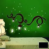 Wandtattoo Wandaufkleber Wandsticker Wanddeko Elfentraum Elfen Feen fluoreszierend M940 ausgewählte Farbe: *schwarz* ausgewählte Größe: *L*