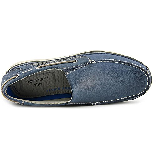Dockers Chalmers Hommes Cuir Mocassin blue