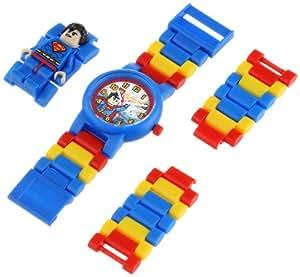 LEGO DC Super Heroes Superman - 9005619 - Montre Enfant - Quartz Analogique - Bracelet Plastique Multicolore