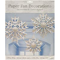 Amscan Paper Snowflake Fan Decorating Kit
