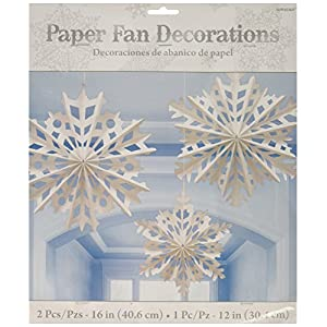 Amscan Fan Dec Kit Paper Snowflake