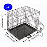 Easipet 24 inch dog cage, black