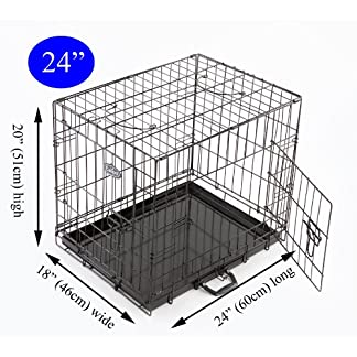 Easipet Dog Puppy XXLarge Black Metal Training Cage Crate 48 18