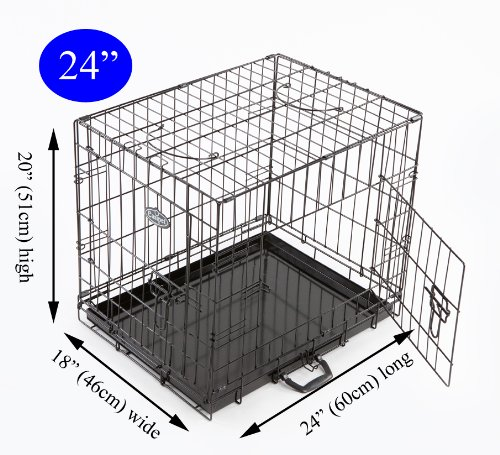 Easipet Dog Puppy XXLarge Black Metal Training Cage Crate 48 1
