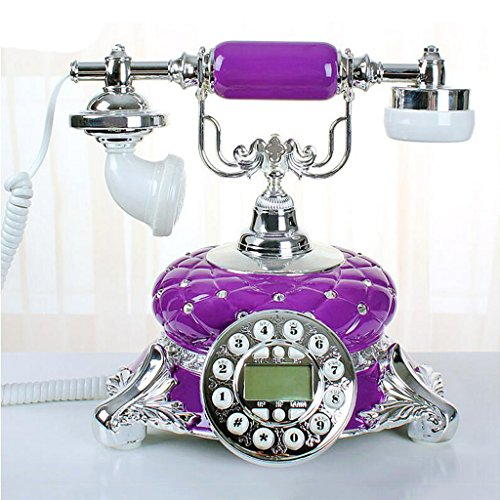 Liu Yu·kreative Hause, kreative lila Harz Home Wohnzimmer dekoriert High Luxus Luxus Retro Telefon