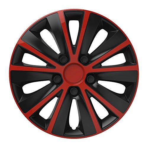 Universal Radzierblende Radkappe schwarz 15 Zoll für viele Fahrzeuge passend - Schwarze Felgen Und Rote