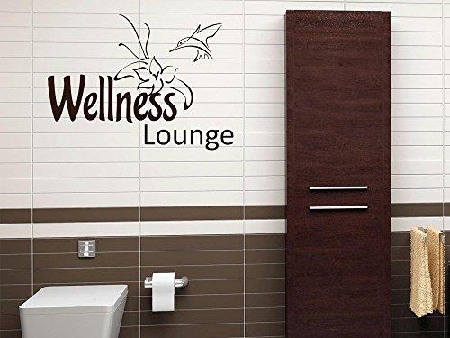 650064_50_073 Wandtattoo Wand Aufkleber Wanddekoration Deko frs Bad Spruch Wellness Lounge (Gre=68x50cm//Farbe=Dunkelgrau)