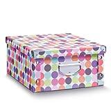 Zeller 17893 Aufbewahrungsbox  Dots Pappe, 40 x 33 x 17 cm